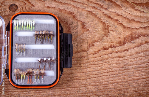 Collection of flies for fly fishing
