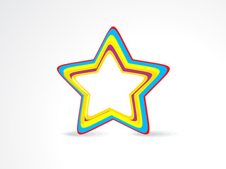 abstract colorful star icon