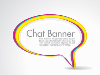 abstract speech banner