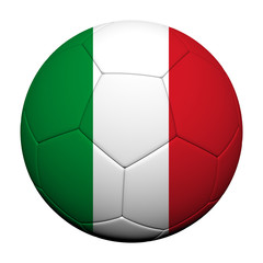 Italy Flag Pattern 3d rendering of a soccer ball