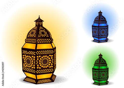 Islamic lamp for Ramadan / Eid Celebrations - Vector
