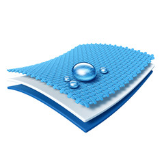 Funktionstextil - atmungsaktiv und wasserabweisend - Grafik