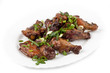 Fried chicken legs with green onions