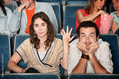 Funny Couple in Theater