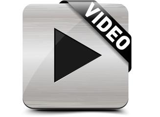 Watch video, Brushed aluminium button