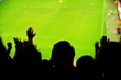 Spectators fans football