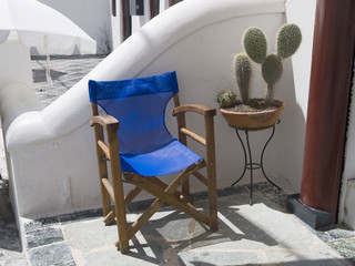 Quiet corner on the Island of Santorini Greece