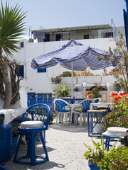 Street Cafe in Fira Capital of Santorini Greece