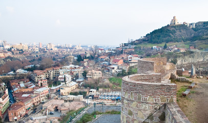 Panoramic view from Narikala Fortress. Tbilisi. Georgia.