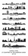 skylines of the capital cities of the european union - set 02