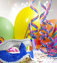 Party accessories abstract background