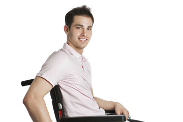 Young professional in wheelchair closeup
