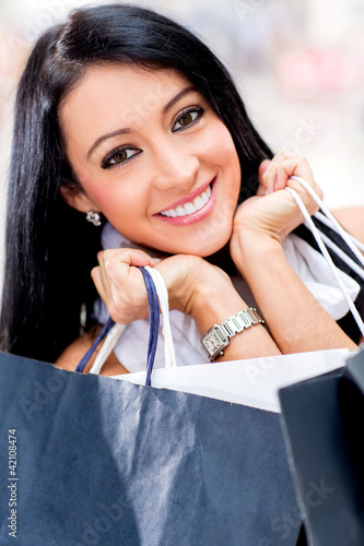 Beautiful girl shopping