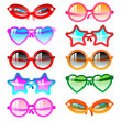 Sunglasses icon set
