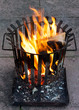 Brennender Feuerkorb