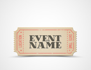 Vector ticket as a template for your event