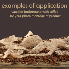 coffee background and space for your product