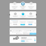Website  template  menu elements with icons