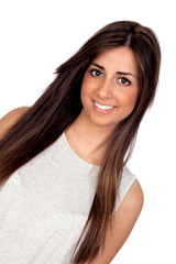 Attractive girl with long hair