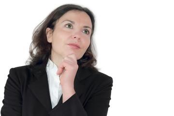 Geschäftsfrau träumt