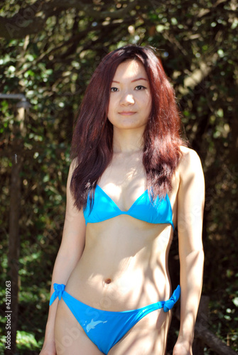 Asian girl in the Mediterranean forest1
