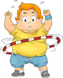 Overweight Boy Using a Hula Hoop