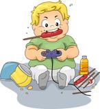 Fototapety Overweight Gamer