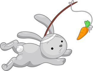Rabbit Running After a Carrot