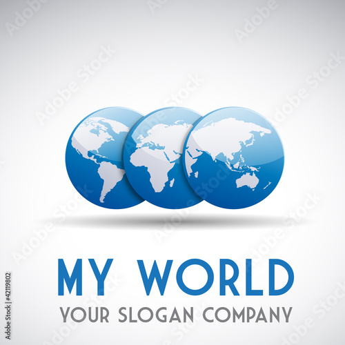 Logo World # Vector