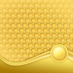 honeycomb with wax