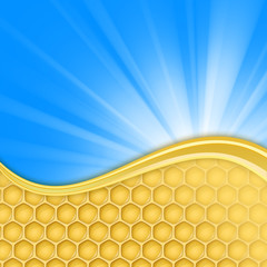 honeycomb and sky