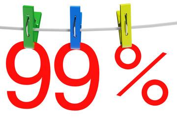 99 percent sale symbol