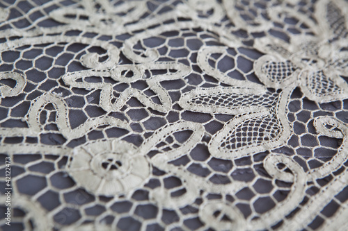 vintage tablecloth lace detail