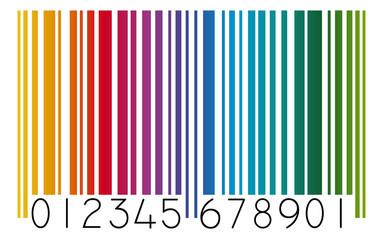Strichcode farbig