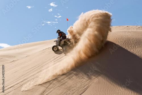 Quad-bike in Glamis sand Dunes