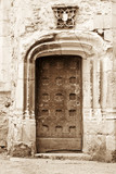 Antique medieval door in Le Mans, France