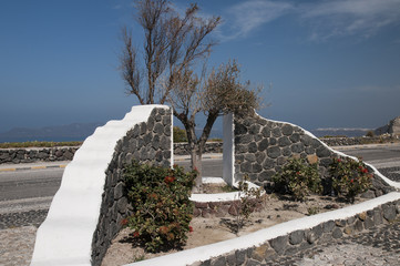 Road Side Garden in Fira Santorini Greece