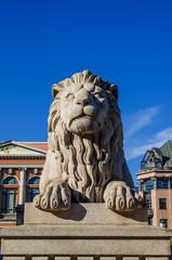 Lion near Norwegian Parliament