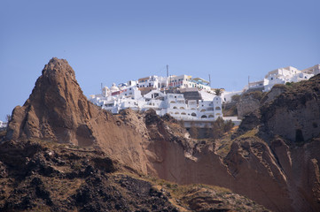 Fira viewed from the Caldera Santorini Greece
