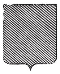 Vert or Sinople (heraldry) vintage engraving