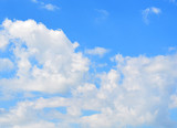 Background with blue sky and clouds