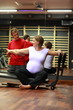 Stretching in pregnancy with physical therapist