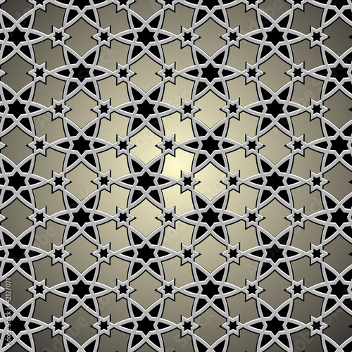 Metallic pattern on islamic motif