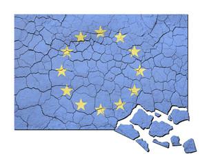 Crumbling EU Flag