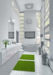 badezimmer im wald