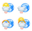 Love weather icons for valentine's day