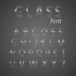 Glass alphabet.