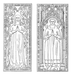 Tombstones, currently in the chancel of church of Saint-gervals,
