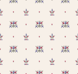 Vintage vector seamless pattern