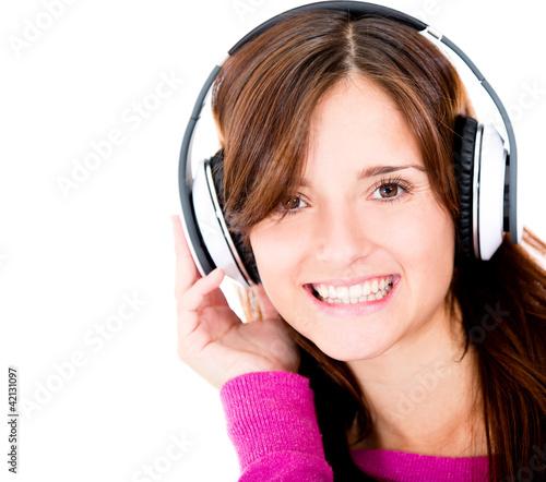 Woman with headphones